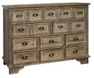 Henderson 10 Drawer Weathered Oak Chest Product Image