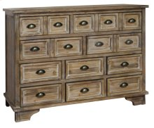 Henderson 10 Drawer Weathered Oak Chest