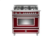 Matt-burgundy 36 6-Burner, Gas Oven