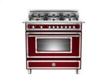 Matt-burgundy 36 6-Burner, Gas Oven