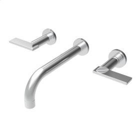 Satin Nickel - PVD Wall Mount Lavatory Faucet