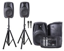 "All-in-one 8-channel Dual 10"" Dj Mixer Pa System"