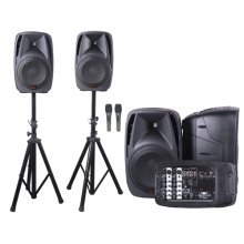 """All-in-one 8-channel Dual 10"""" Dj Mixer Pa System"""