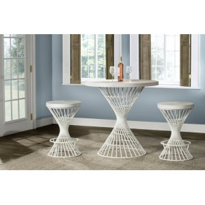 Hillsdale FurnitureKanister 3pc Counter Height Dining Set - White