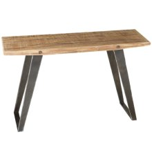 Natural Wood Console Table