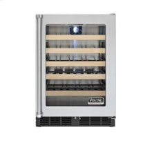 "24"" Undercounter Wine Cellar, Clear Glass, Right Hinge/Left Handle"