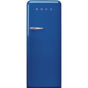 Smeg50'S Style Refrigerator with ice compartment, Blue, Right hand hinge
