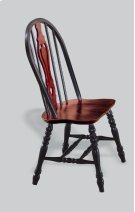 """Sunset Trading 41"""" Keyhole Dining Chair in Antique Black with Cherry Seat Product Image"""