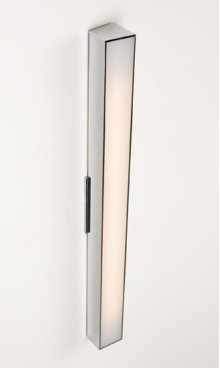 "FLUORESCENT AXIS 24"" LINEAR SCONCE - BRUSHED NICKEL"