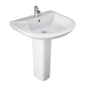 Anabel 630 Pedestal Lavatory - White