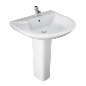Anabel 630 Pedestal Lavatory - White Product Image