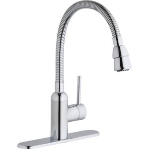 Elkay Pursuit Laundry/Utility Faucet with Flexible Spout Forward Only Lever Handle Chrome Product Image