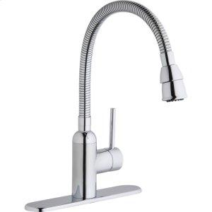 Elkay Pursuit Laundry/Utility Faucet with Flexible Spout Forward Only Lever Handle Chrome Product Image