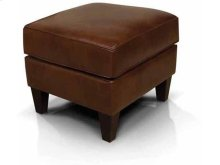 Lacey Leather Ottoman