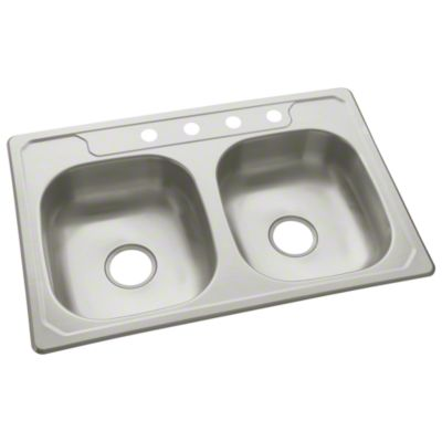 "Middleton™ Double-basin Kitchen Sink, 33"" x 22"""