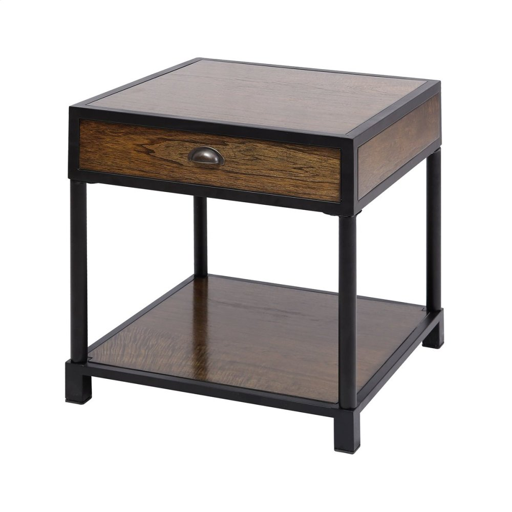 Merveilleux Pendleton Antique Brown Side Table
