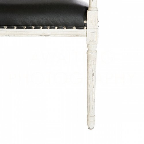 Ethan Arm Bench (Cane Back) in Leather