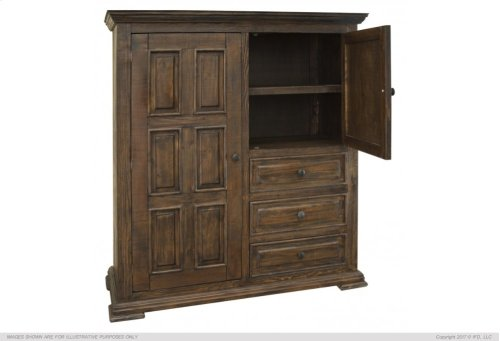 3 Drawer, 2 Door Gentleman s Chest