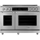 "48"" Heritage Dual Fuel Epicure Range, Silver Stainless Steel, Natural Gas Product Image"