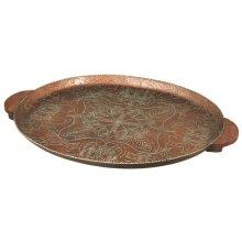 Bronze Patina Oval Tray.