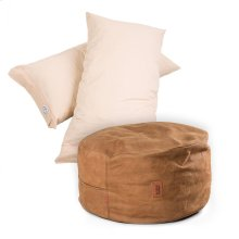 Pillow Pod Footstools - Faux Leather - Cognac