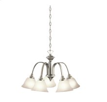 Hastings Collection Hastings 5 Light Chandelier - Brushed Nickel