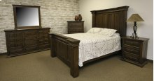 Terra Dark Queen Upholstered Bed