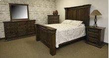 Terra Dark Queen Upholstered Bed