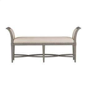 Resort Surfside Bed End Bench In Morning Fog