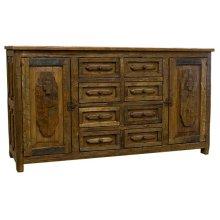 Turquoise 8 Drawer/2 Door Buffet
