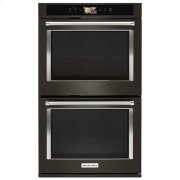 "KitchenAid® Smart Oven+ 30"" Double Oven with Powered Attachments and PrintShield™ Finish - Black Stainless Product Image"