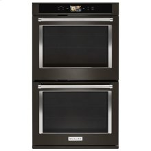 """KitchenAid® Smart Oven+ 30"""" Double Oven with Powered Attachments and PrintShield™ Finish - Black Stainless"""