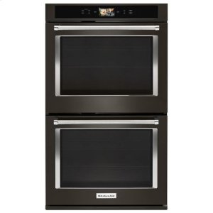 "KitchenaidKitchenAid(R) Smart Oven+ 30"" Double Oven with Powered Attachments and PrintShield(TM) Finish - Black Stainless"