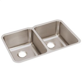 """Elkay Lustertone Classic Stainless Steel 31-1/4"""" x 20"""" x 9-7/8"""", Equal Double Bowl Undermount Sink"""