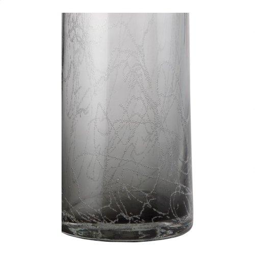 Ahab Bottle Vase Grey