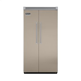 "Taupe 42"" Quiet Cool™ Side-by-Side Refrigerator/Freezer - VISB Tru-Flush™ (42"" wide)"