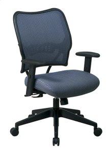 Deluxe Chair With Blue Mist Veraflex Back and Veraflex Fabric Seat
