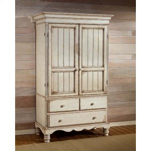 Hillsdale FurnitureWilshire Armoire Antique White