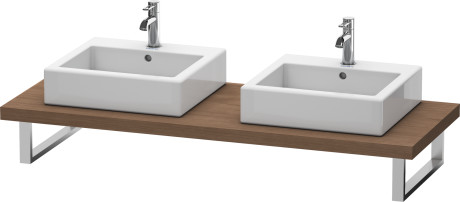 Console For Above-counter Basin And Vanity Basin, American Walnut (real Wood Veneer)