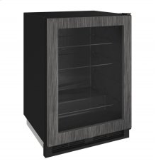 """1000 Series 24"""" Glass Door Refrigerator With Integrated Frame Finish and Field Reversible Door Swing"""