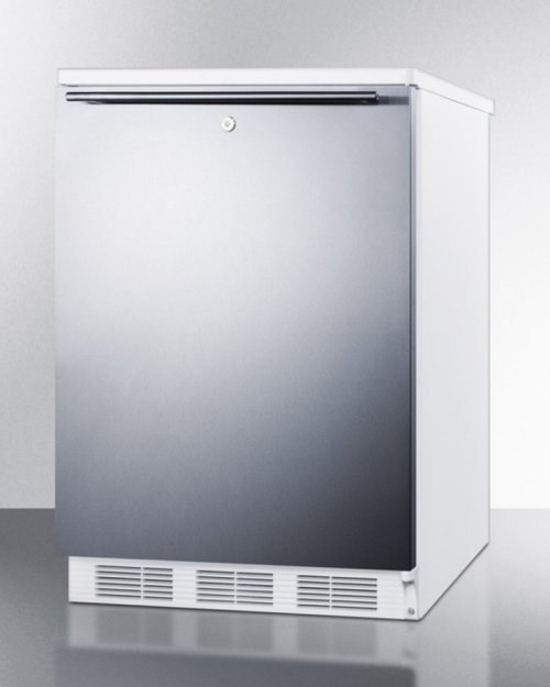 Freestanding Refrigerator-freezer for General Purpose Use, With Dual Evaporator Cooling, Cycle Defrost, Lock, Ss Door, Horizontal Handle and White Cabinet