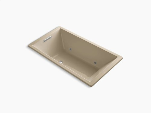 """Mexican Sand 66"""" X 36"""" Drop-in Vibracoustic Bath With Bask Heated Surface and Chromatherapy"""