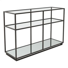 Kure Console Table-distressed Black