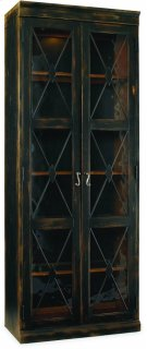 Sanctuary Two-Door Thin Display Cabinet - Ebony Product Image