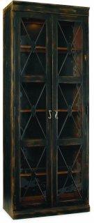 Sanctuary Two-Door Thin Display Cabinet - Ebony Product Image