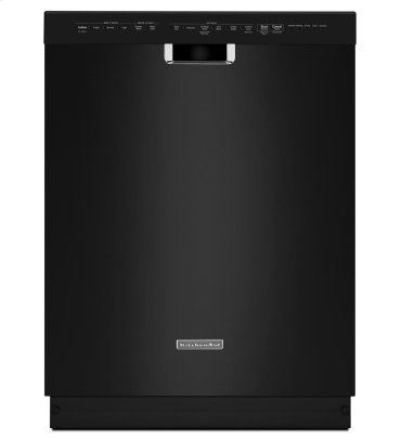 24'' 6-Cycle/6-Option Dishwasher, Pocket Handle - Black