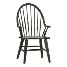 Windsor Back Arm Chair - Black