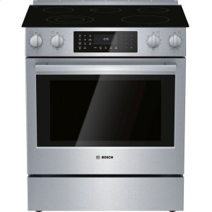 Bosch800 Series Electric Slide-in Range 30'' Stainless steel