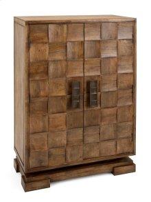 Cahan 2-Door Wood Tile Cabinet
