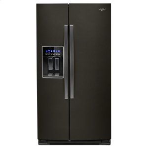36-inch Wide Side-by-Side Refrigerator - 28 cu. ft. - FINGERPRINT RESISTANT BLACK STAINLESS